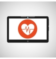 Technology heart medical social media design vector image