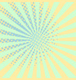 warm orange pop art retro comic halftone spotted vector image