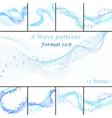 Water wave patterns set vector image