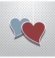 Retro valentines card vector image vector image