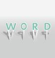 WORD word vector image