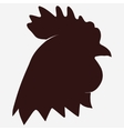 Rooster head icon vector image