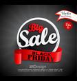 big sale - black friday vector image