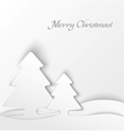 White christmas tree applique background vector image