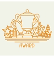 Awards and trophy sport or business background in vector image