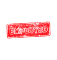 EMPLOYED red Rubber Stamp isolated vector image