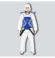 taekwondo fighter vector image