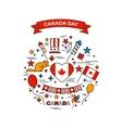 Happy Canada Day elements set vector image