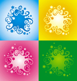 pattern with original spiral structure vector image vector image