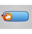 Recommendation button - with like sign vector image
