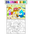 childrens cartoon color of the holiday birthday vector image