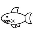 Cute animal shark - vector image