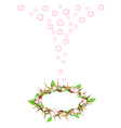 Fresh Leaves Falling to A Crown of Thorns vector image