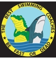 Funny of shark and crocodile vector image