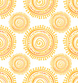 Hand drawn ethnic sun vector image