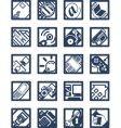 internet computer icons vector image