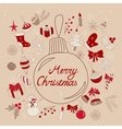 Merry Christmas greetings in ball vector image