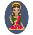 Parvati deity vector image