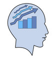 potential idea human man head graph brain concept vector image