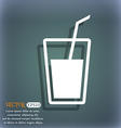 Soft drink icon On the blue-green abstract vector image