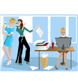 Three Girls In the Office vector image