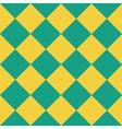 Yellow Green Chess Board Diamond Background vector image