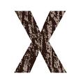 bark letter X vector image