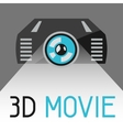 Background with 3d movie projector vector image