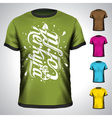 T-shirt set with corfu summer holiday vector