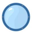 porthole on white vector image vector image
