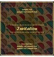 invitation card with umbrella vector image vector image