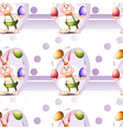 A seamless design with a bunny and Easter eggs vector image