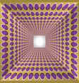 Abstract tunnel with polka dots walls vector image