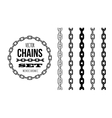 different type of chains black and white vector image