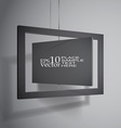 Hanging boards vector image