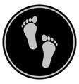 human steps black coin vector image