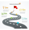 Infographic Timeline and Road with Pointer vector image