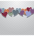 Retro valentines card vector image