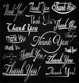 Thank You Typography vector image