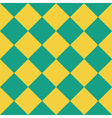 Yellow Green Chess Board Diamond Background vector image