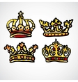 Set of doodle crowns vector image
