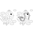 Easy bird maze vector image
