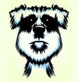 Terrier Dog Portrait vector image vector image
