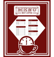 menu good coffee vector image
