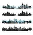 cityscapes set vector image