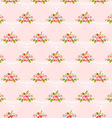 Seamless vintage pattern with pink roses vector image