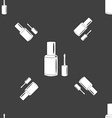 NAIL POLISH BOTTLE icon sign Seamless pattern on a vector image