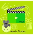 Movie Trailer Camera with Slapstick vector image