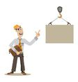 managing in construction vector image