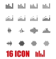 grey music soundwave icon set vector image